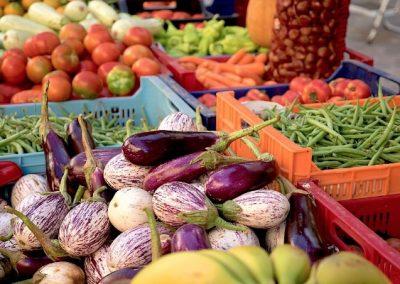 DAG 8: Aubergine met sperzieboontjes en tomaat