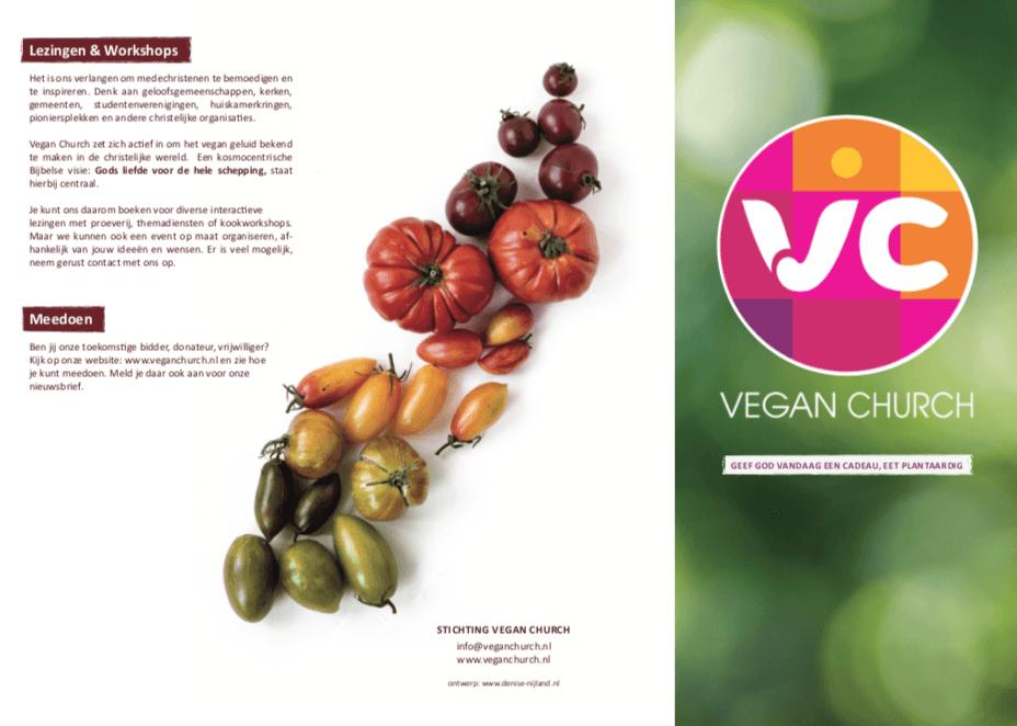 Nieuwe Vegan Church flyer